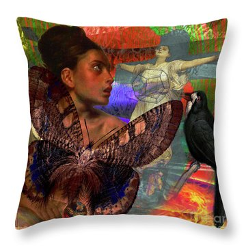 Mother Earth Persecution Throw Pillow