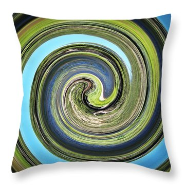Mother Earth Throw Pillow by Scott Haley