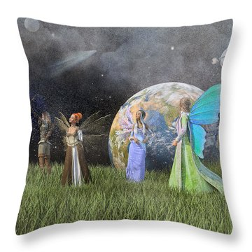 Mother Earth Series Plate1 Throw Pillow