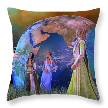 Mother Earth Series Plate5 Throw Pillow