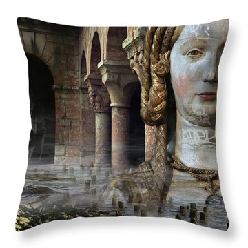 Mother Earth Throw Pillow by Yvonne Wright