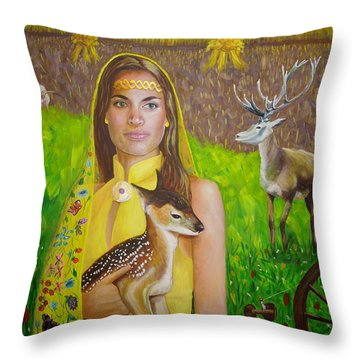 Mother Goddess Ker - Lammas Throw Pillow