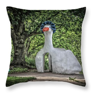 Mother Goose Throw Pillow by Ray Congrove