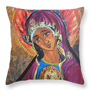 Mother Mary Of Pentecost Throw Pillow