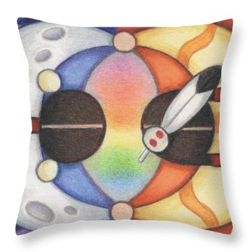 Mother Moon  Father Sun Throw Pillow by Amy S Turner