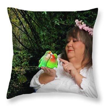 Mother Nature Throw Pillow by Robert Hebert