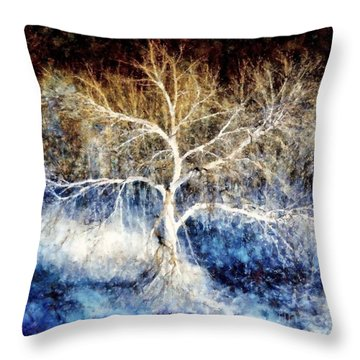 Mother Natures Dance Throw Pillow by Janine Riley