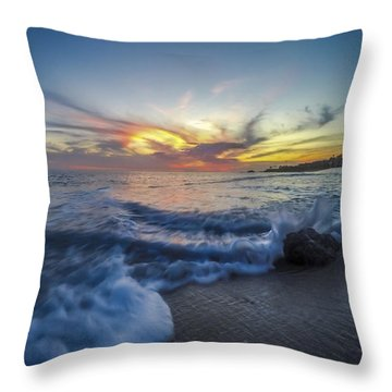 Throw Pillow featuring the photograph Mother Natures Fireworks by Sean Foster