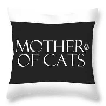 Mother Of Cats- By Linda Woods Throw Pillow