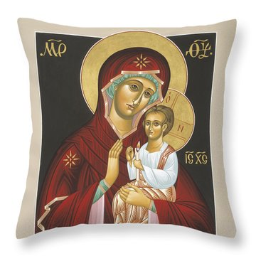 Mother Of God Light In All Darkness 016 Throw Pillow