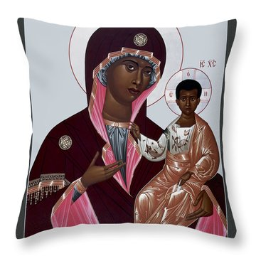 Mother Of God - Protectress Of The Oppressed - Rlpoo Throw Pillow