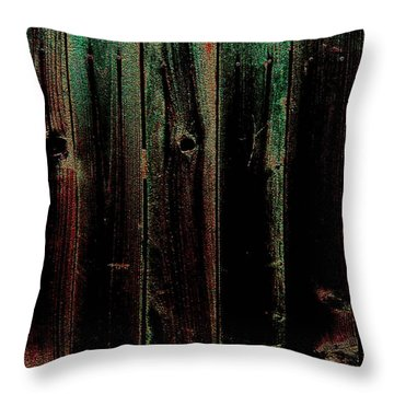 Mother Of Pearl Fence Throw Pillow