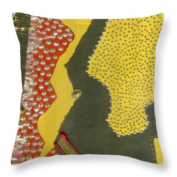 Mother Of Pearls Throw Pillow by Angela L Walker
