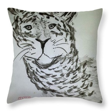 Mother Sister Jaguar Throw Pillow