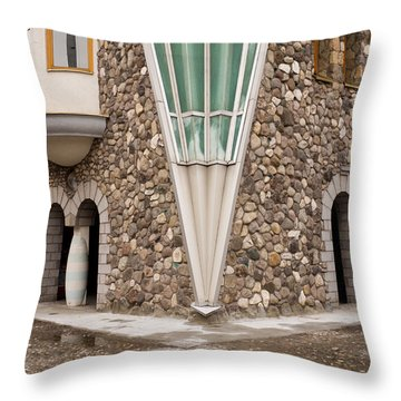 Mother Teresa House Throw Pillow by Rae Tucker