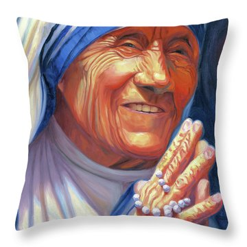 Mother Teresa Throw Pillow