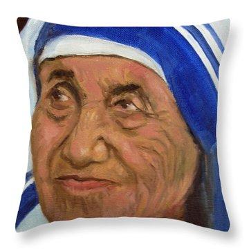 Mother Theresa Throw Pillow