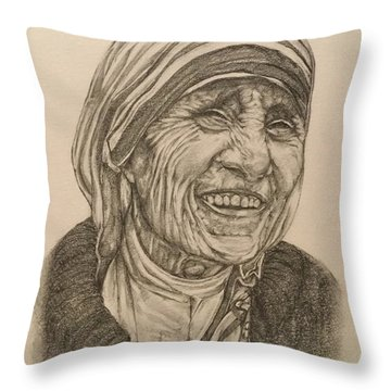 Mother Theresa Kindness Throw Pillow