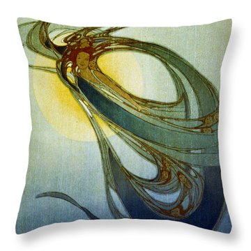 Mother West Wind 1920 Throw Pillow by Padre Art