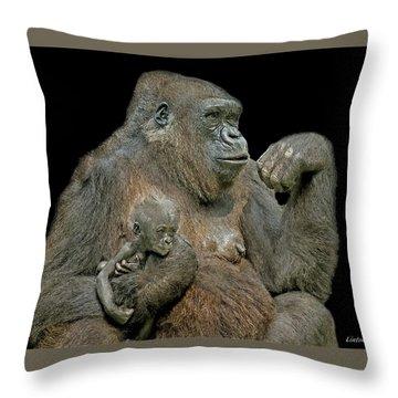 Motherhood 5 Throw Pillow