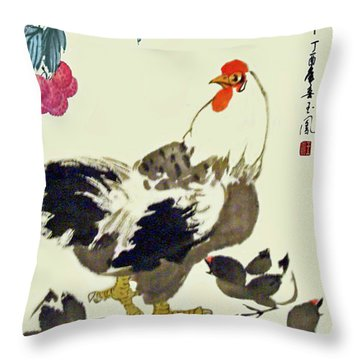 Motherly Love Throw Pillow by Yufeng Wang