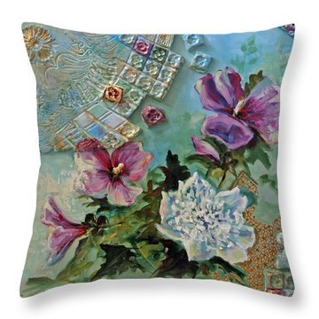 Throw Pillow featuring the painting Mothers Althea by Suzanne McKee