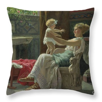 Mother's Darling  Throw Pillow by Zocchi Guglielmo