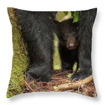 Mothers Day Bear Card Throw Pillow