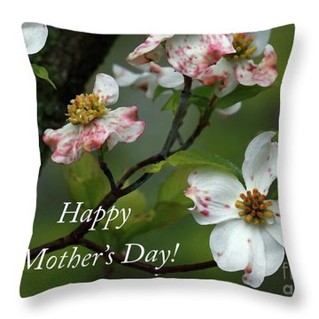 Mother's Day Dogwood Throw Pillow by Douglas Stucky