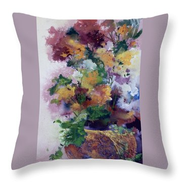 Mother's Day Floral Throw Pillow