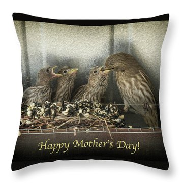 Throw Pillow featuring the photograph Mother's Day Greetings by Alan Toepfer