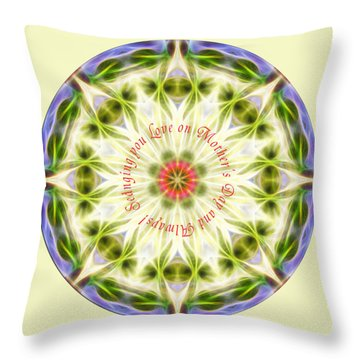 Mother's Day Mandala 1 Throw Pillow