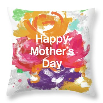 Mother's Day Roses- Art By Linda Woods Throw Pillow