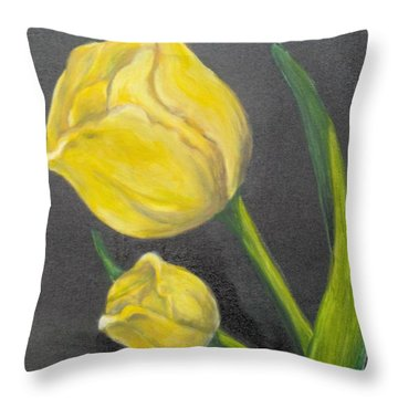 Throw Pillow featuring the painting Mother's Day by Saundra Johnson