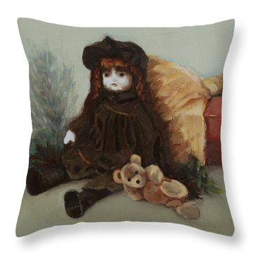 Mother's Doll Throw Pillow