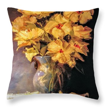 Mother's Favorite Vase Throw Pillow