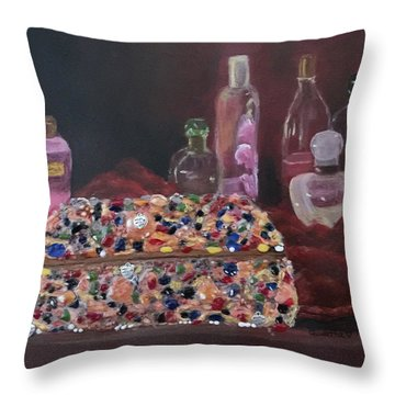 Mother's Jewelry Box Throw Pillow