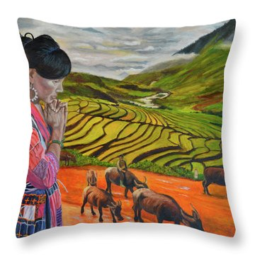 Mother's Land Throw Pillow