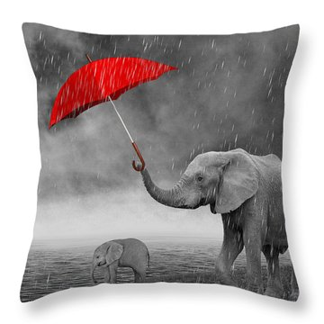 Mother's Love And Care Throw Pillow
