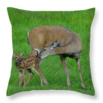 Mother's Love Throw Pillow by Sandra Updyke