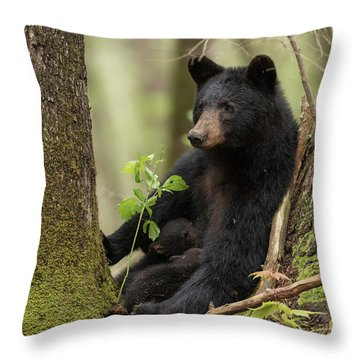 Mothers Loving Care Throw Pillow