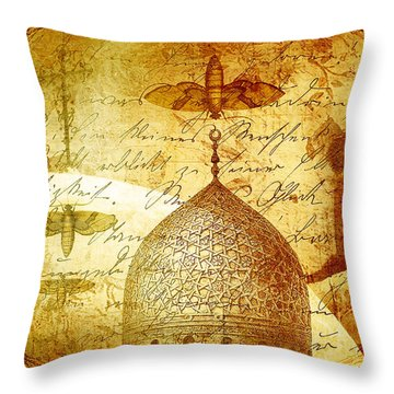 Moths And Mosques Throw Pillow by Tammy Wetzel