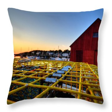 Motif 1 Lobster Trap Sunrise Throw Pillow