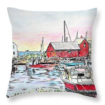 Motif #1 Rockport, Massachusetts Throw Pillow