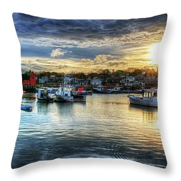 Motif #1 Sunrise Rockport Ma Throw Pillow