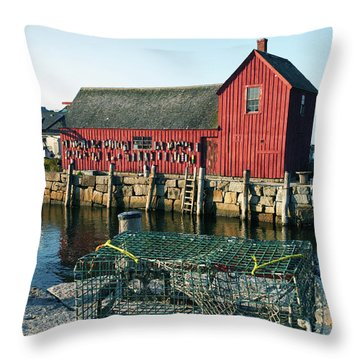 Motif Number One II Rockport Massachusetts Throw Pillow