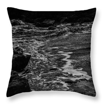 Motion In Black And White Throw Pillow