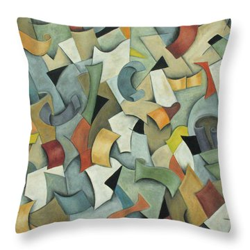Motion Throw Pillow by Trish Toro