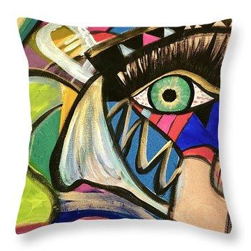 Motley Eye 3 Throw Pillow