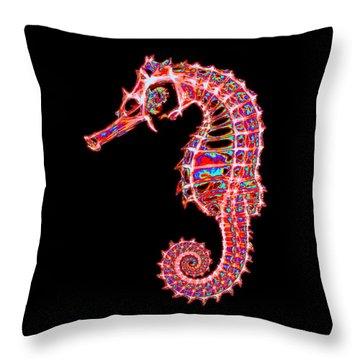 Motley Hippocampus Throw Pillow